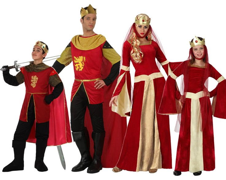Familia de Reyes Medievales Rojos #disfraces #carnaval #disfracesparagrupos