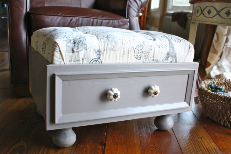 7 Best Images About Old Drawer Ottoman... On Pinterest