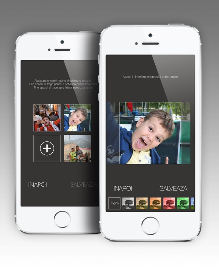 Edit your photos. Crop, set the layout, add filters and more.