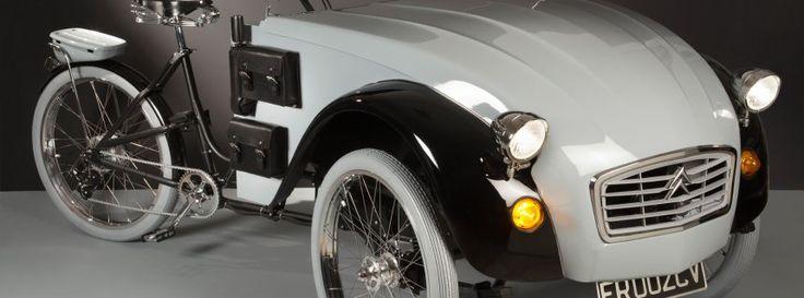 Design-Fahrrad 2CV Paris: Hybrid aus Italien: Halb Ente, halb Fahrrad