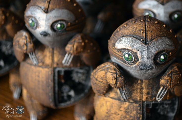Steamy chums is a line of hand-crafted, hand-painted, limited-edition designer toys in the image of steampunk animal companions. Our designer toys are a beautiful design object, and at the same time they want to create awareness on the risk of losing wildlife because of human activity.