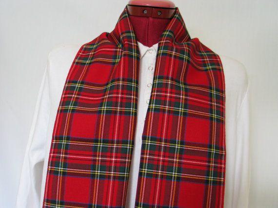Royal Stewart Tartan Scarf Red Plaid Scarf Plaid by dolldressedup