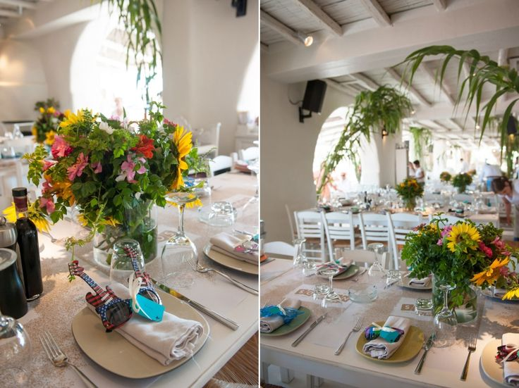 Colourful party always needs colourful bouquets! Sun flowers are the best!