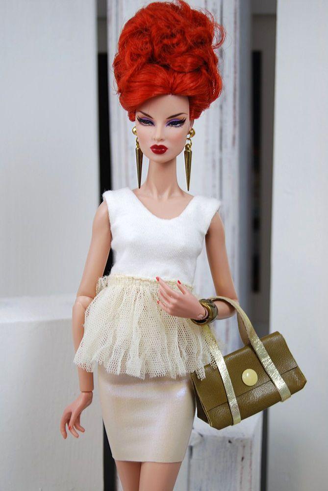 HABILISDOLLS outfit, clothes, boots for Fashion Royalty FR2, Barbie,Jem dolls