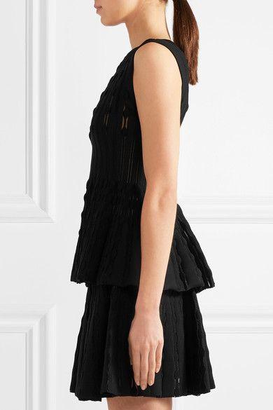 Alaïa - Stretch-knit Peplum Top - Black - FR38