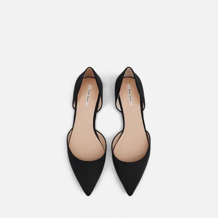 Trop mignonnes !  BALLERINES DÉCOLLETÉES À BOUT POINTU MÉTALLIQUE-Tout voir-Chaussures-FEMME | ZARA France