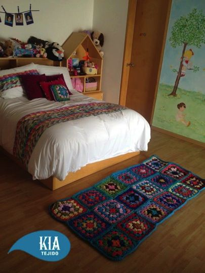 Cojines tapetes pies de cama tejidos de tela a mano - Cojines para cama ...