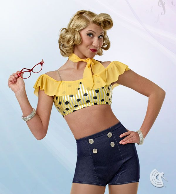 Curtain Call Costumes®   Peggy Sue Retro Bikini For Your Beach Party!