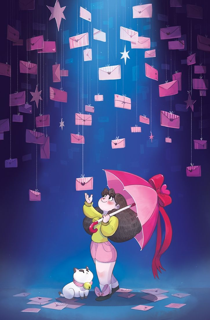 BEE AND PUPPYCAT #3 Retail Price: $3.99 Author: Natasha Allegri Artist: Natasha Allegri Cover Artist(s): A. Natasha Allegri B. Zac Gorman C. Chrystin Garland (Incentive) Bee just wants to get paid! Sure, she might not be qualified for any actual jobs—or at least any jobs in the normal world—but she's a hard worker…most of the time, and she gets stuff done…sometimes! This mission might be tougher than it looks; aliens always tend to complicate things.