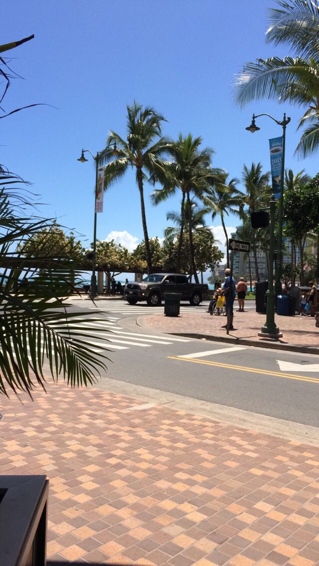 View of Waikiki Beach from Cheeseburger in Paradise.