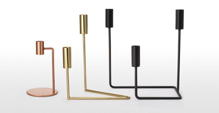 Verona zweiarmiger Kerzenständer, Mattschwarz ► Design, das dein Zuhause schöner macht: Entdecke jetzt neue Wohnaccessoires bei MADE.