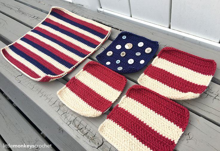 Crochet Pattern For Usa Flag : 17 Best images about Crochet on Pinterest