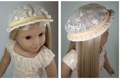 Lace Hat with Lined Brim