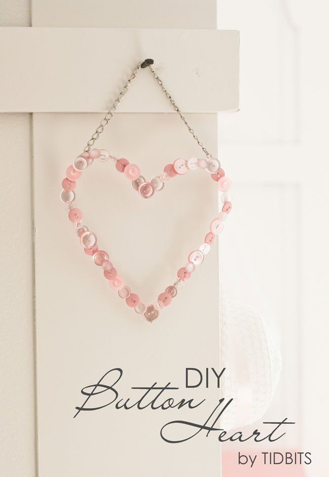 DIY Button Heart Keepsake - Tidbits! So simple to make and so cute!