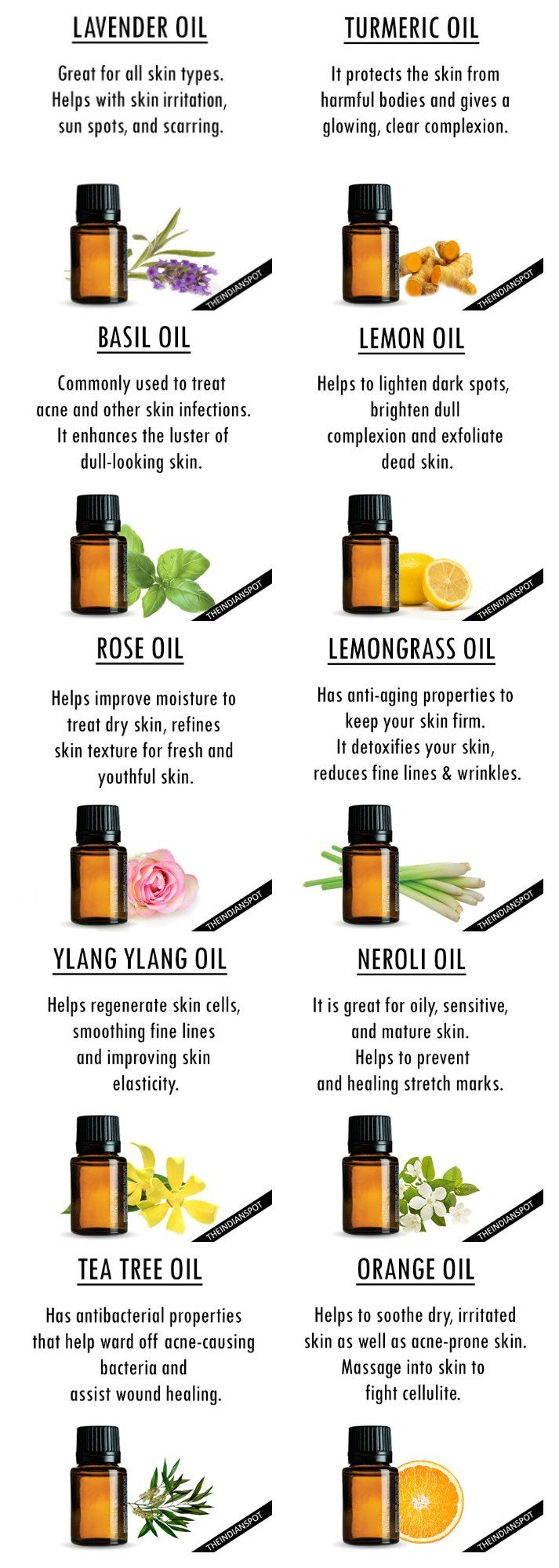 Essential oils for the face