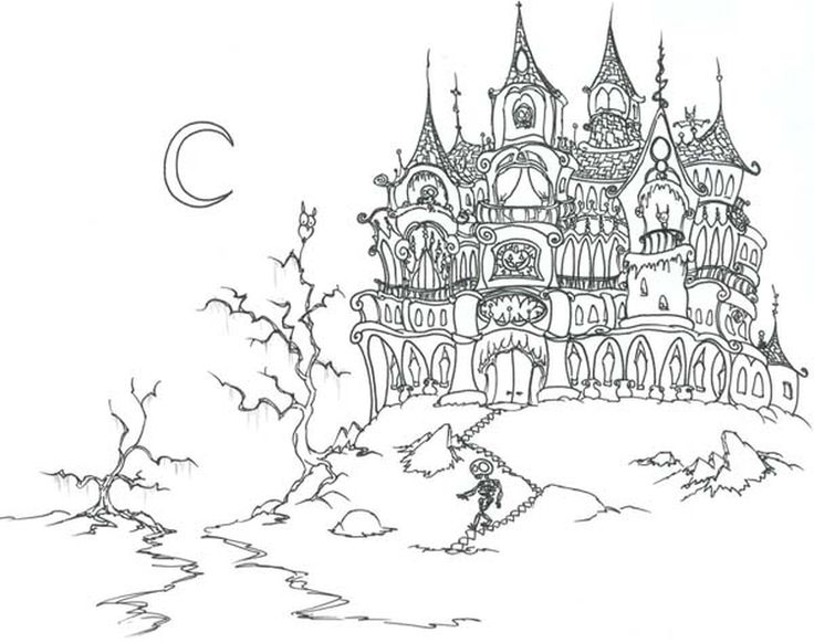 17 best images about coloring pages for adults on for Difficult halloween coloring pages