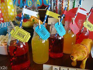 6 Mini Milk Bottles Plastic Vintage Retro Party Birthday Candy Buffet B NEW | eBay