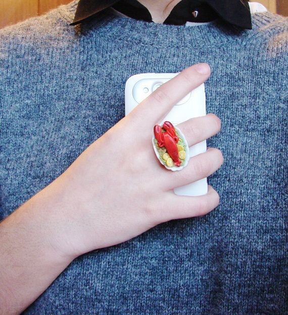 Lobster Platter Miniature Ring by FatPea on Etsy