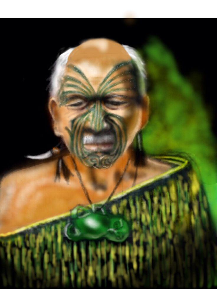 Old Maori Warrior, ref. Charles Goldie.