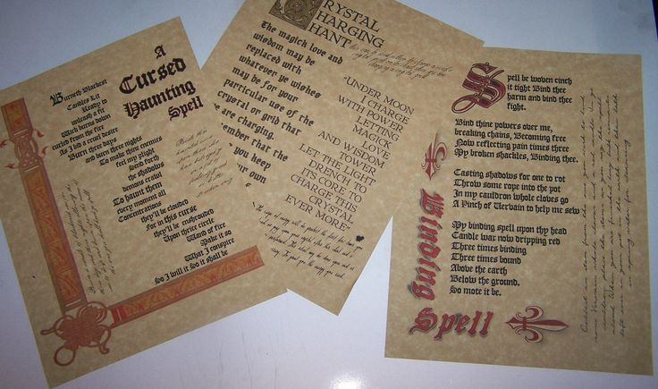 Lot of 3 Rare Book of Shadows Spell Pages Wiccan Spell Witchcraft real spell bos picclick.com