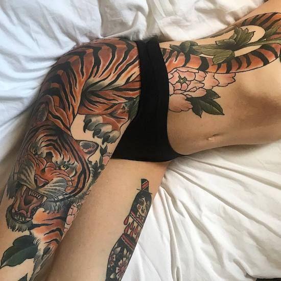 INK ADDICTS AROUND THE WORLD UNITE | Leg tattoos women, Hip tattoos women, Thigh piece tattoos