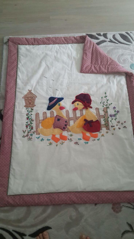 Punch ve aplike çalışması Bebek battaniyesi