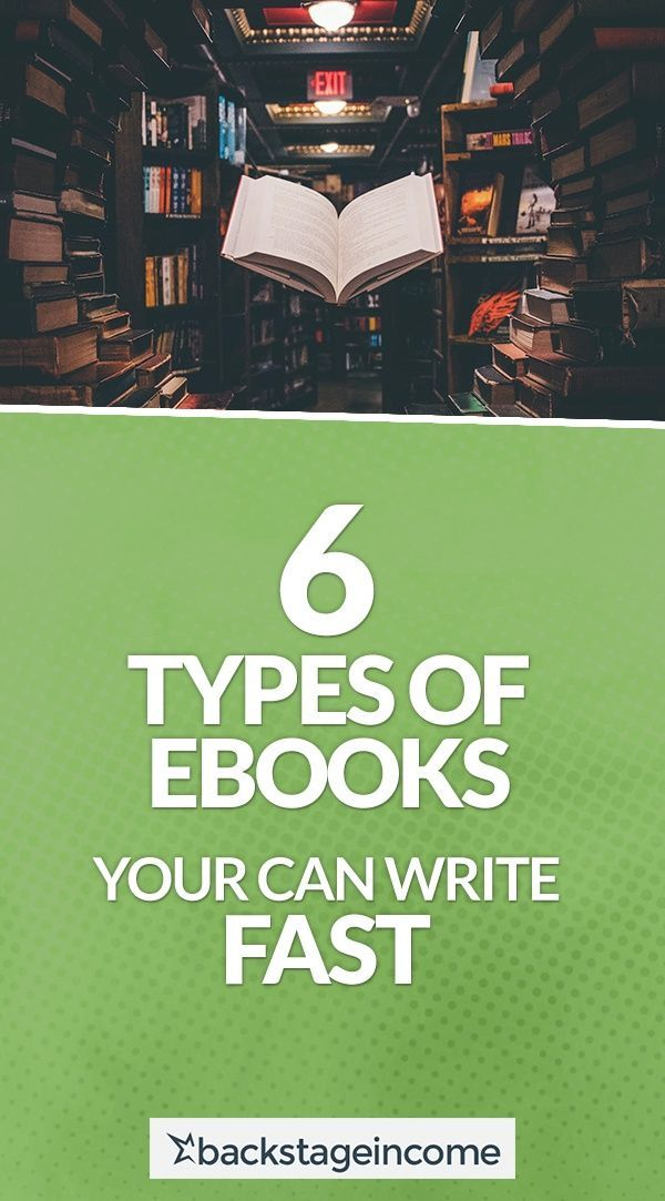 6 Types Of Ebooks You Can Write Fast Bsi 48 Backstageincome Book Marketing Ebook Writing Writing A Book