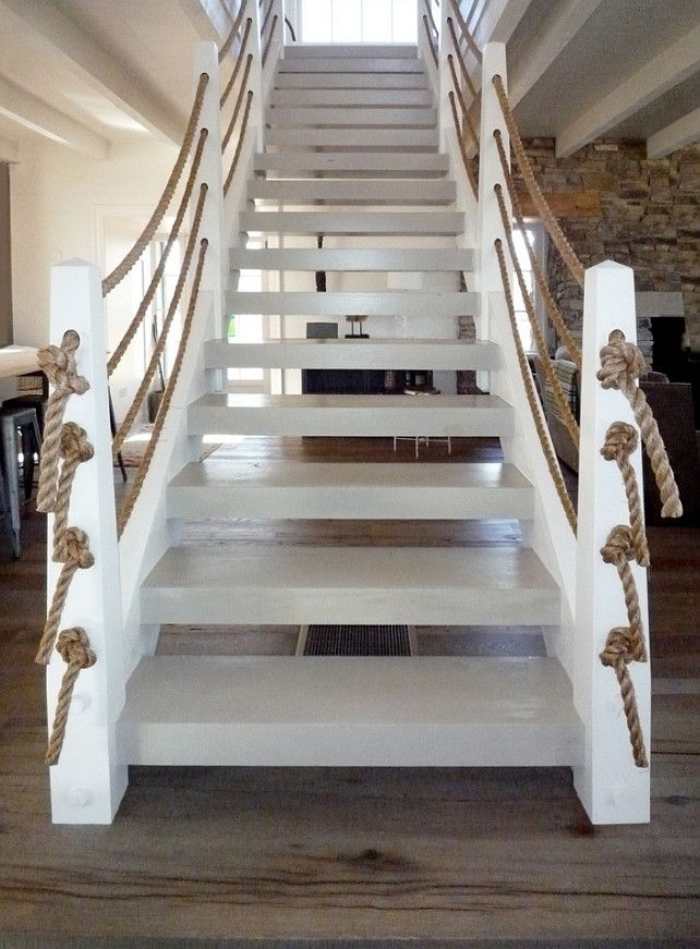Wonderful Detail For This Stairway Railing, Beach House, Home Bunch.  Nautical RopeNautical ThemeNautical DesignBeach ...
