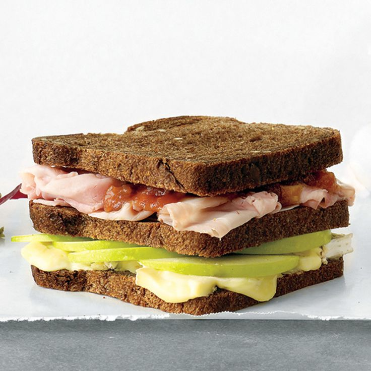 Apple, Brie, and ham sandwich.