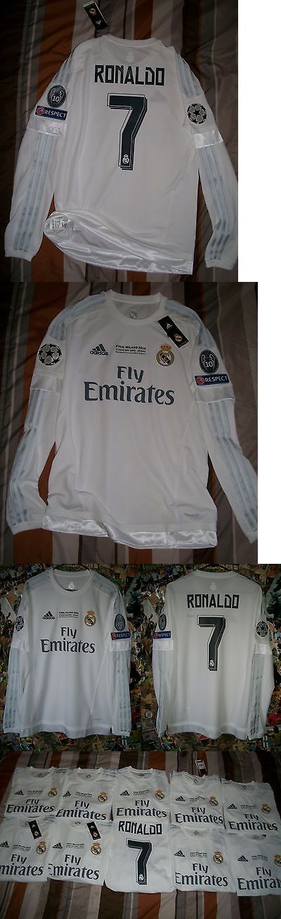 Men 123490: Rare Adidas Real Madrid Soccer Jersey Final Milano 2016 Champions Ronaldo L S -> BUY IT NOW ONLY: $75 on eBay!