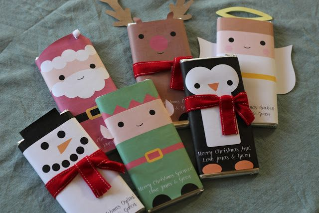 Free Printable candy bar wrappers for Christmas