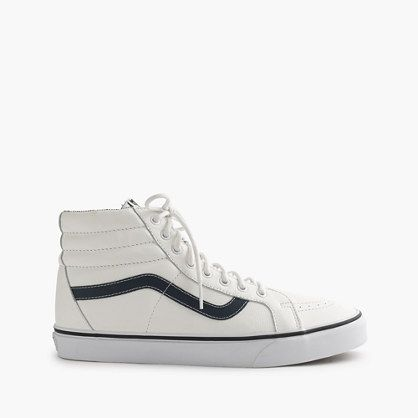 Founded by Paul Van Doren in 1966, Vans has been the footwear of choice for nearly five decades among Southern Californian skateboarders. This updated version of one of their first high-tops combines a white leather upper with the sk-8-hi's iconic pared-down shape for a sneaker that's sturdy enough for kick-flips but also sharp enough for happy hour after a day at the office.<ul><li>Leather upper.</li><li>Cotton lining.</li><li>Rubber sole.</li><li>Import.</li></ul>