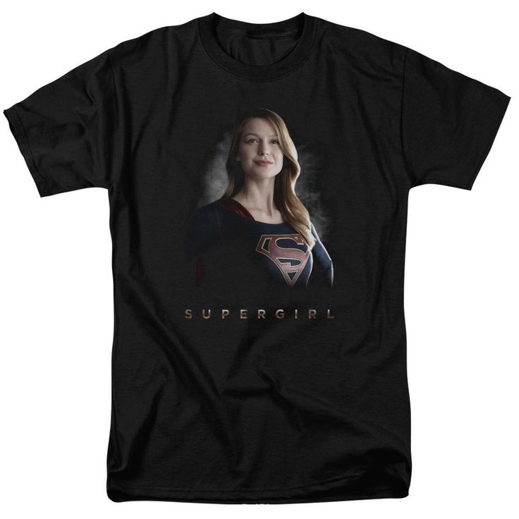 """Supergirl Tv Series Standing Tall Adult Black T-Shirt from Warner Bros.: """"Back home on Krypton it was a simple… #Movies #Films #DVD Video"""