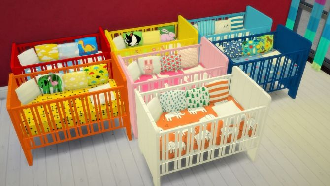 7 crib recolors at Budgie2budgie via Sims 4 Updates