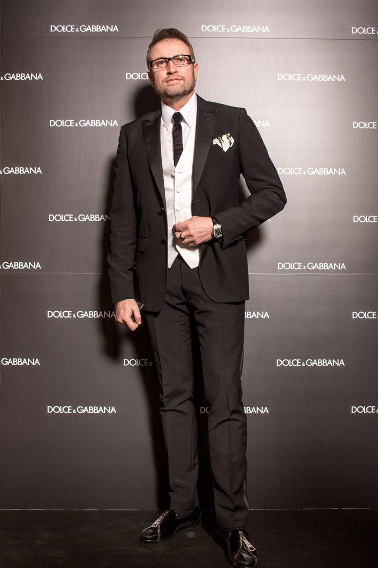 Catalin Botezatu at the opening of Dolce & Gabbana in Romania