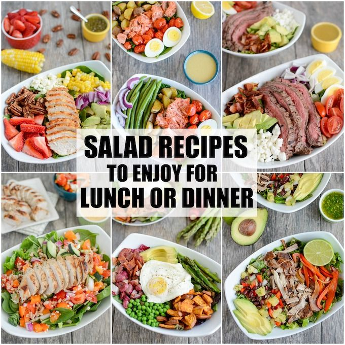 Salad Recipes For Lunch Or Dinner Hearty Salad Recipes Salad Recipes Healthy Lunch Salad Recipes Lunch
