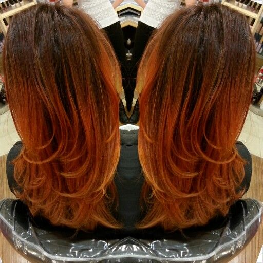 @Kahlen S. Balayage copper red ombre | Hair & Makeup ...