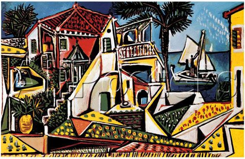 Pablo Picasso Paintings - Mediterranean Landscape - my 2nd favorite Picasso painting