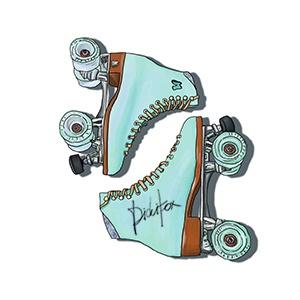 Blue Retro Roller Skates $8