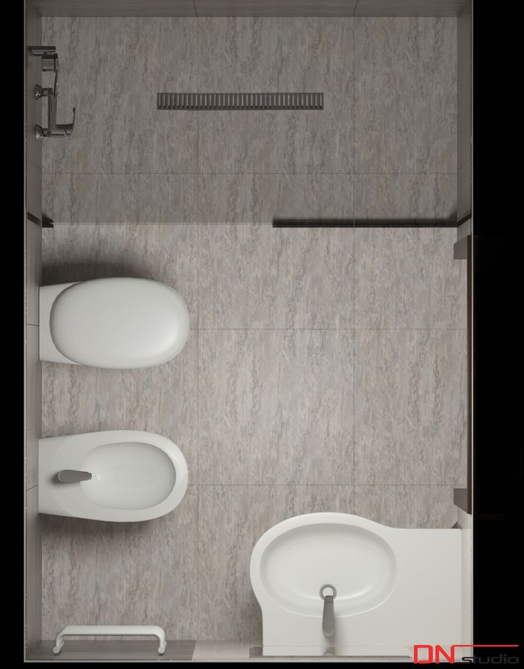BRISTOL ART & SPA Sanatorium in Busko zdroj, Poland. Design and Rendering of the toilet.