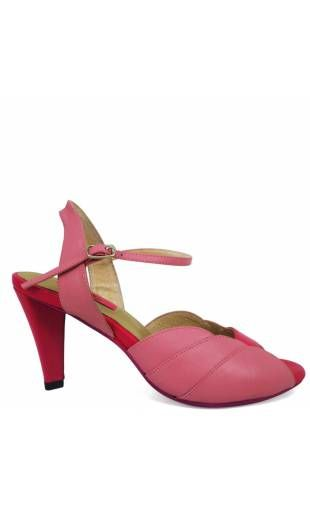 Shoes woman out of leather MARINA Pink