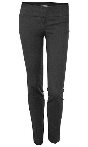 Gray slim fit dress pants. Slim, straight leg, or slight bootcut pants seem to be the most flattering on me.
