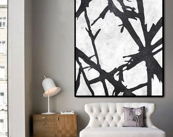 Huge Abstract Painting On Canvas Vertical Canvas door CelineZiangArt