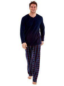 Homme Harvey James Haut Thermique, Polaire Pantalon Chaude Ensemble De Pyjama