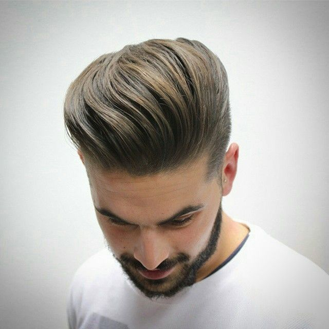 Layrite Deluxe Pomade\u2122 on Instagram: \u201cGarnering today's #goodlookoftheday is Spain's @menpeluqueros for this super smooth loose #pompadour /#quiff. Coiffed high and locked\u2026\u201d