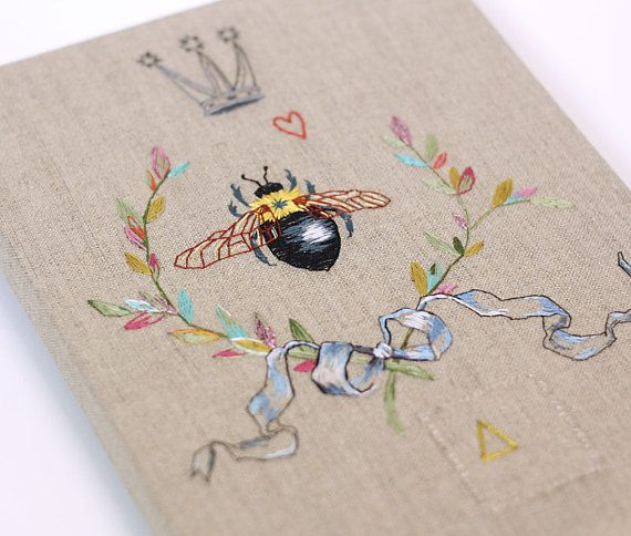 The Queen Bee  Embroidery by catherinecampbellart on Etsy