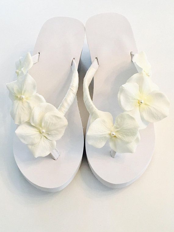 2cad44978ff34 Bridal Flip Flops Wedges Beach Wedding Shoes Bridal Shoes bridesmaid  FlipFlops Mother of Bride Shoes