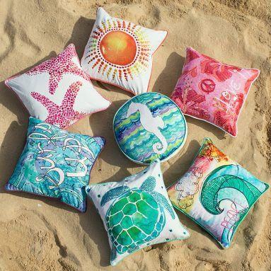 Surf N Sand Pillow Cover | PB Teen