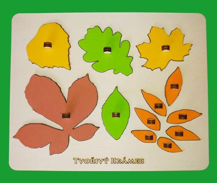 Montessori jemné v barvách | Vkládačka Listy | Tvořivý krámek