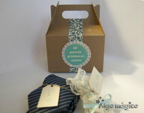 Kit para los próximos en casarse. www.algomagico.com